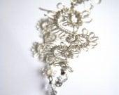 Lace Tatted Earrings - SILVER SWIRLS