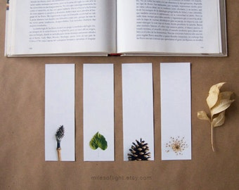 Bookmarks Set - Natural Series II. Nature photography bookmark. Minimalist. Botanical. Book lovers gift. Stocking stuffers.