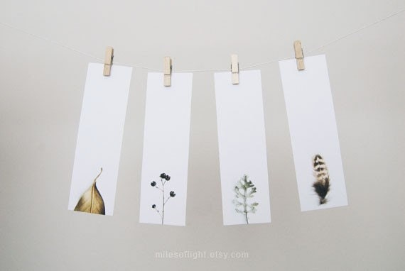 Items similar to bookmarks set natural series i nature for Simple bookmarks