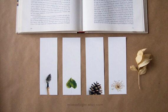 Bookmarks Set - Natural Series II. Nature photography bookmark. Minimalist. Botanical. Book lovers gift. Stocking stuffers.