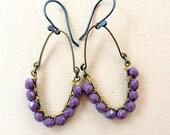 Czech Purple. Earrings.