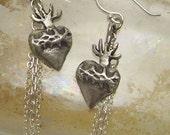 earrings - sacred heart