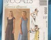 McCalls 2035 evening dress pattern  Evening elegance