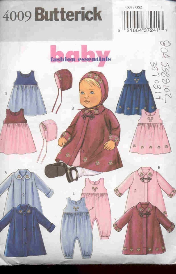 Butterick 4009 Wardrobe pattern for baby girl-fashion essentials