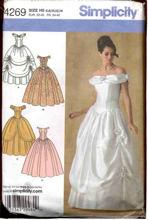 Simplicity 4269 Southern Belle Evening Gown Wedding Gown