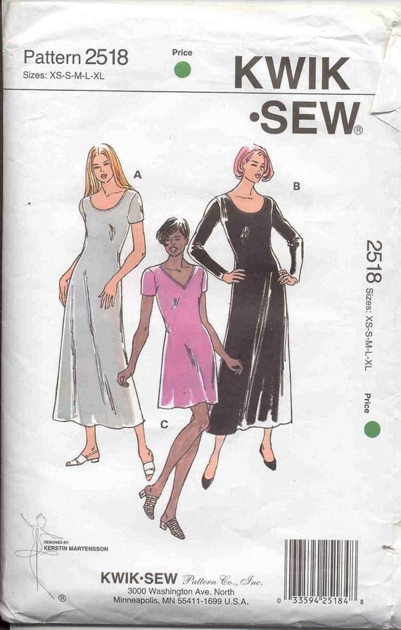 Kwik Sew pattern 2518 Stretch Knit Dress Pattern by bellaloona