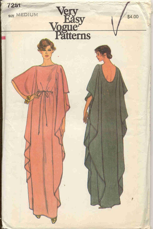 Very Easy Very Vogue 7251 Vintage Caftan Pattern