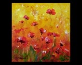 Summer Bloom II - Small Original Acrylic Floral Painting