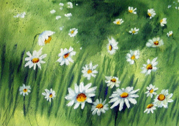 Daisys - Original Floral Watercolor Painting