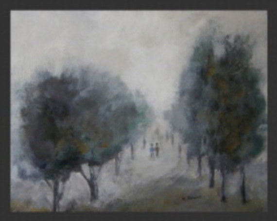 Mist -   Original Acrylic Abstract Landscape Painting