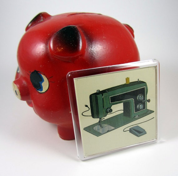 Retro Magnet Sewing Machine