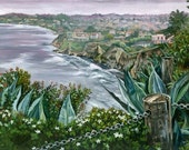 California Seascape Painting - 20x15in Giclee Print