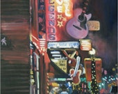 Nashville New Year - 11x14in Original Oil Painting