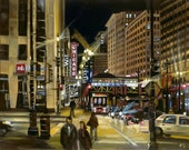 Chicago Theater, State Street Painting - 15x12in Giclee Print