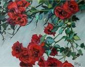 """Red Roses - 14x11"""" Original Floral Painting"""