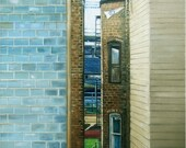 Wrigleyville, Chicago Oil Painting - 12x15in  Giclee Print