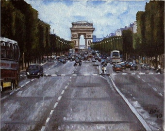 Paris Painting - 10x8in Original Oil Cityscape