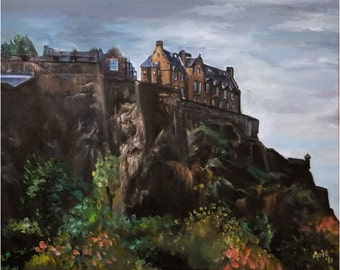 Edinburgh Castle - 20x16 Original Oil Painting