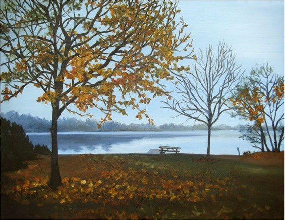 Late Fall- 18x14in Original Oil Painting