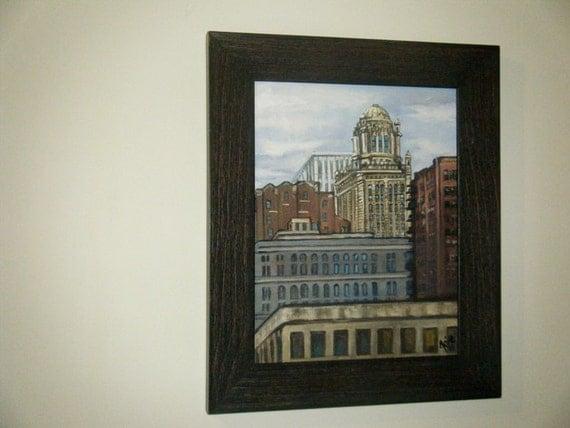 "Plein Air Chicago Cityscape - 11x14"" Oil Painting"