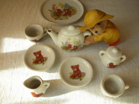 little bears tea set