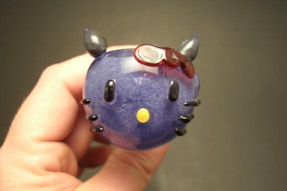 Purple Hello Kitty Glass Pipe