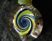 Large Blown Glass 3-D Swirl pendant