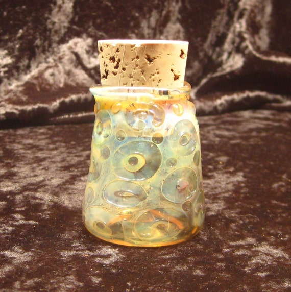 Silver Fumed Jar with cork
