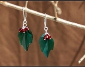 Swarovski Holly Leaves Earrings------------------------Limited Edition