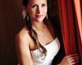 Selene Collection Swarovski Briolette Necklace (Sterling Silver)- Elegant Formal by Courtney Lee Designs
