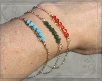 CHOOSE 3---Sarah Bracelet-Mother's Day Bracelet-14k Gold Fill