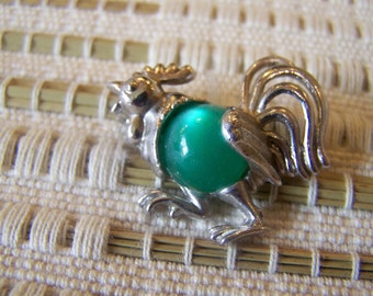 VINTAGE SILVER TONE JELLY BELLY ROSTER PIN