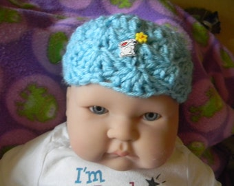 Hand Crochet baby hat boy or girl Free shipping