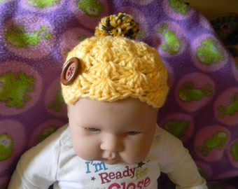 Hand Crochet baby hat boy
