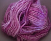Peony Pink Bamboo Handspun Yarn - 25 yards Mini Skein