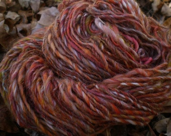 Falling Leaves Handspun Yarn 100 yards