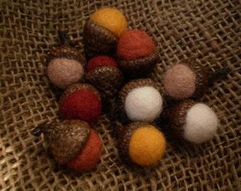Harvest Hues Felted Acorns-Set of 10