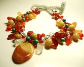 SPN138 - Lady Margarita Wire Crochet Necklace