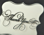 Reserved for Cynthia: 100 Thank You Note Cards - laser cut with envelopes