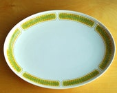 SALE Franciscan Ware Hawaii Platter Feathers Green and Yellow