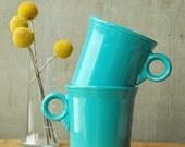 Sherbert Fiesta Mugs - Turquoise - Homer Laughlin