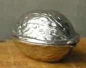 Cyber Monday Sale - Vintage Walnut Nutcracker Box - West Germany - Silver