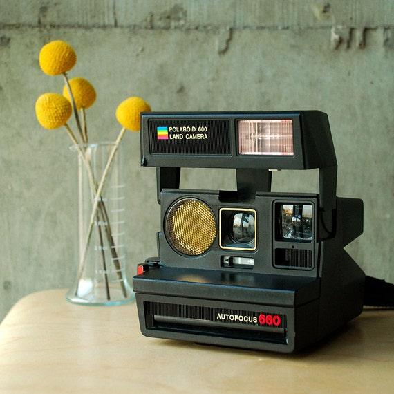 polaroid autofocus 660 600 land camera vintage 80 39 s. Black Bedroom Furniture Sets. Home Design Ideas