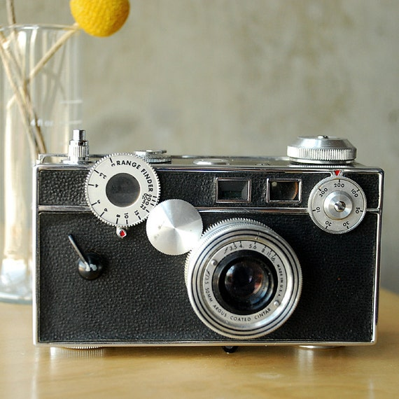 Reserved for Mark -- Vintage Argus C3 Brick Camera Rangefinder with Leather Case American Made - Vint