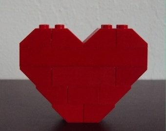 LEGO Heart Pin/Brooch (Red)