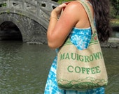 Mauigrown Burlap Coffee Bag Purse with liner of your choice. MADE TO ORDER.