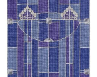 Blue Nouveau - Instant Download - Cross Stitch Pattern PDF