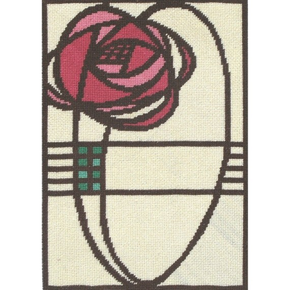 Manhattan Rose - Instant Download - Cross Stitch Design PDF