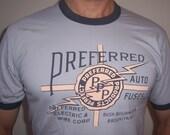 Preferred Auto Fuses 1930s vintage design shirt (Men) small, medium, large, xl, 2xl