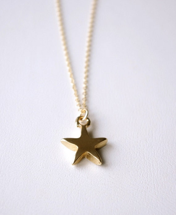 Gold Star Necklace, Double Sided Star Pendant Necklace, Dainty Minimal Necklace, Simple Modern Wish Jewelry, Gifts For Her, Gifts For Women